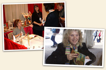 Veronika at a recent booksigning